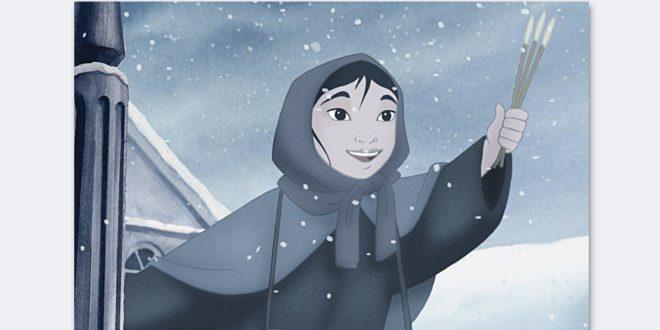 کاور انیمیشن دخترک کبریت فروش
